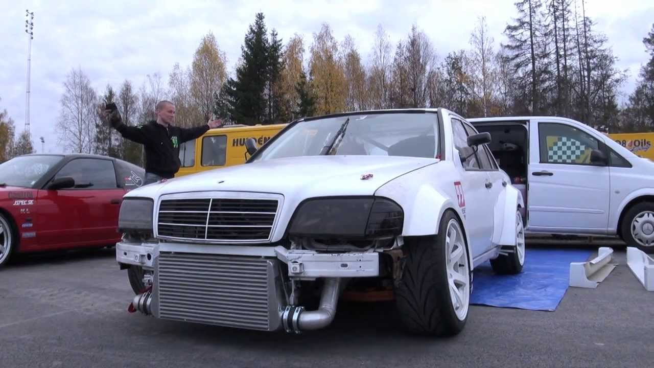 Benz Drift Car >> Driftloco Mercedes C36 Amg Turbo Driftcar Green Valley 2013 First Shakedown