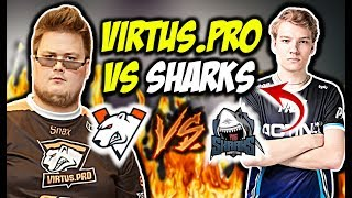 VIRTUS PRO VS SHARKS NAJLEPSZY MECZ OKOLICIOUZA CLUTCH 1vs2 CSGO BEST MOMENTS