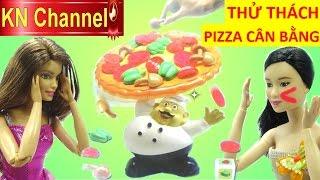 Đồ chơi trẻ em THỬ THÁCH PIZZA CÂN BẰNG INCLINE PIZZA GAME với Búp bê Barbie yoga