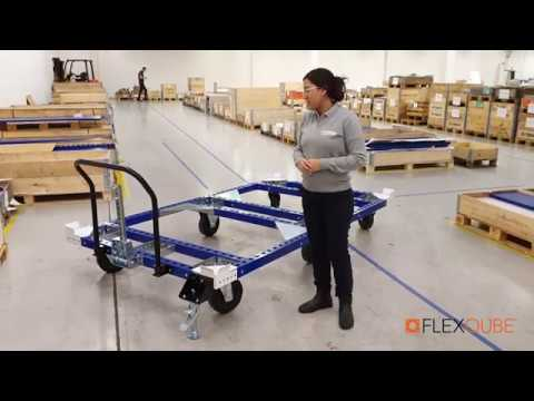 Large Tugger Pallet Cart | Modular Material Handling Equipment