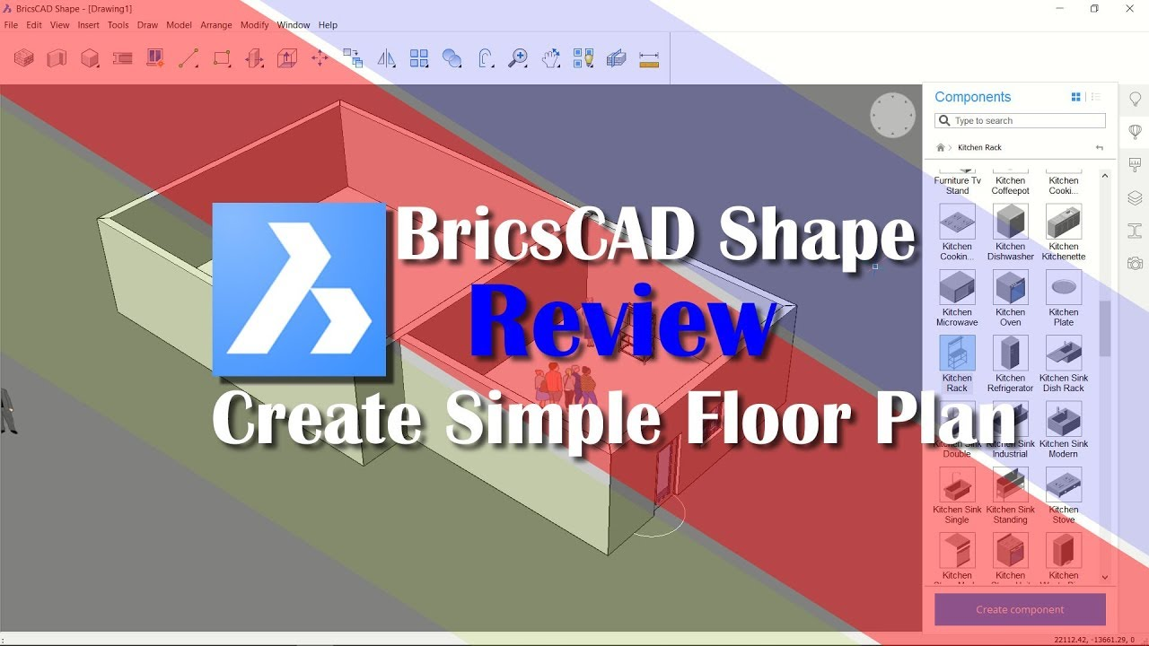 BricsCAD Shape Review Tutorial For Beginner
