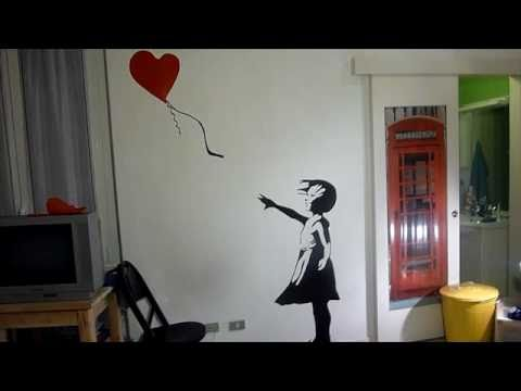 Banksy Balloon Girl - Live Painting
