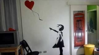 Banksy Balloon Girl - Live Painting