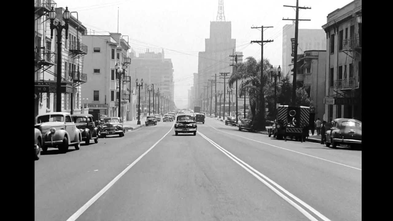 A Drive Through Bunker Hill And Downtown Los Angeles Ca 1940s YouTube