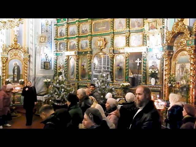 Тропарь Рождества Христова, Всенощное бдение. Свято Озерянский храм, 6 января 2020 г.