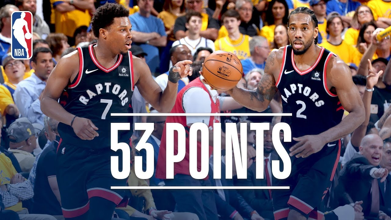 37c9fd76336 Kawhi Leonard and Kyle Lowry Combine for 53 Points | NBA Finals Game ...