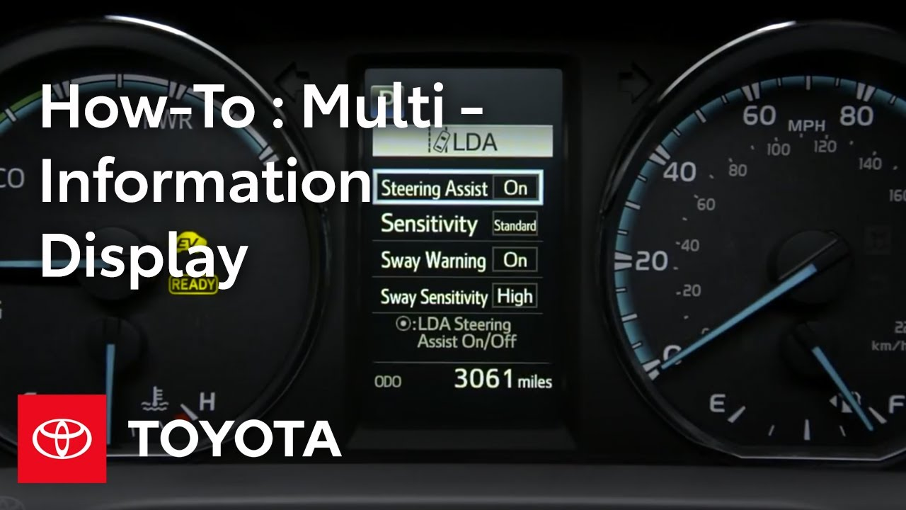 How to Use the Toyota RAV4 Multi-Information Display | MID