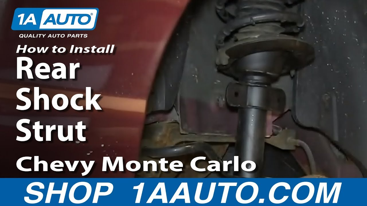 How to Replace Rear Struts 00-07 Chevy Monte Carlo