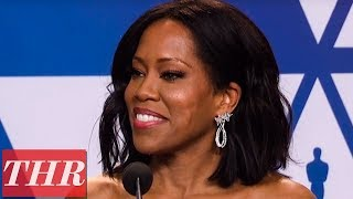 Oscars Winner Regina King Full Press Room Speech | THR