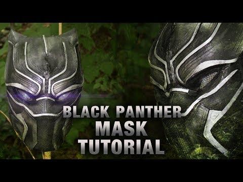 BLACK PANTHER MASK + LED's TUTORIAL / DIY (german)
