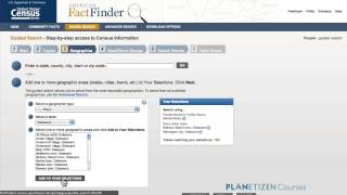 Working with Census.gov 3: Interacting with the Data - Navigating FactFinder