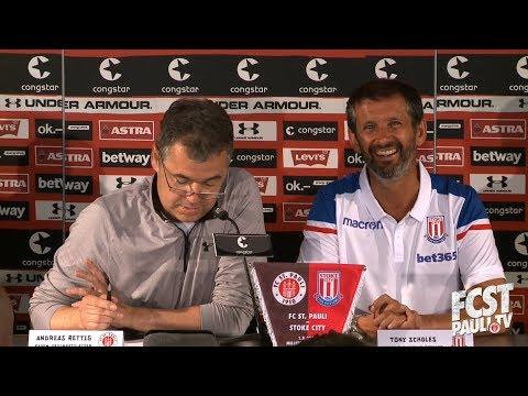 Der FC St. Pauli und Stoke City stellen ihre Kooperation vor I fcstpauli.tv
