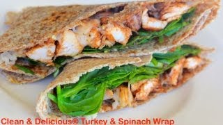 BBQ Turkey and Spinach Wrap Recipe - Clean & Delicious®