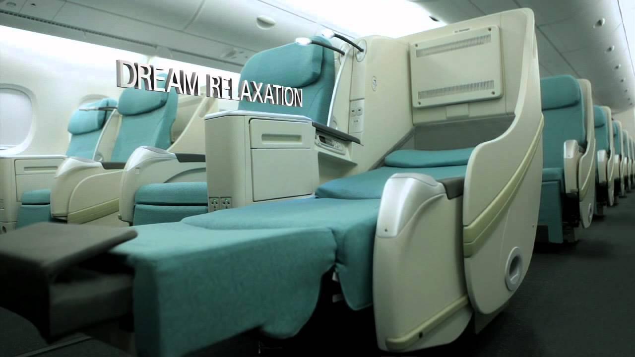 step inside korean air 39 s stunning new a380 cabin youtube. Black Bedroom Furniture Sets. Home Design Ideas