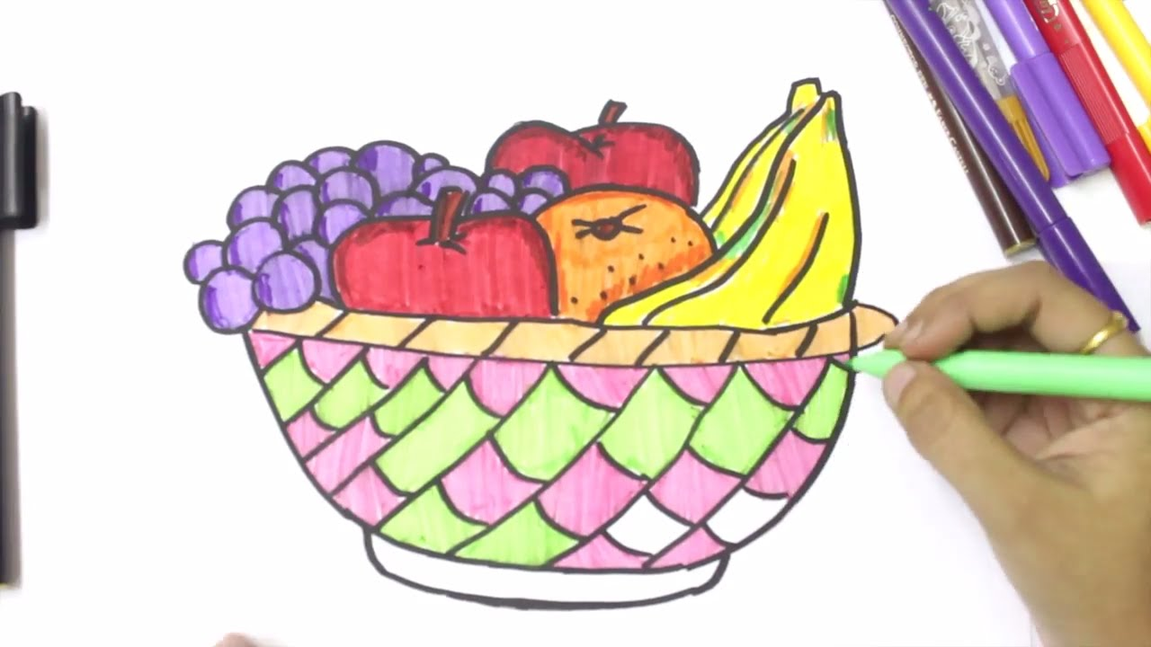 How To Draw Fruits And Vegetables Coloring Dresses For Kids