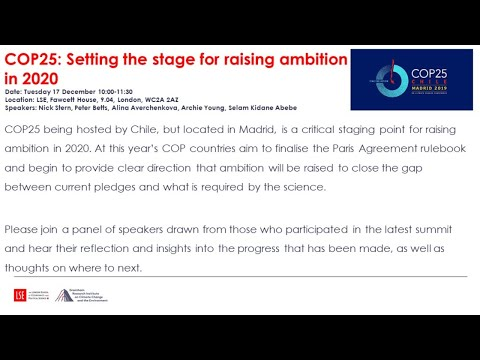 Download COP25: Setting the stage for raising ambition in 2020