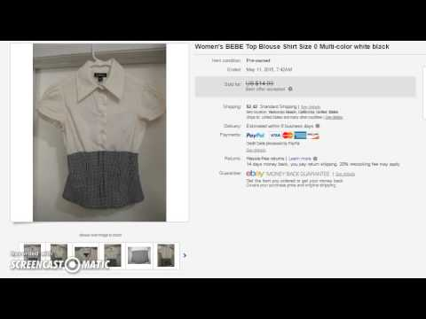 Selling pre owned clothes online