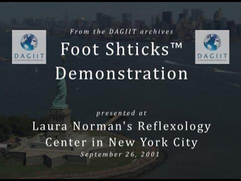 FOOT SHTICKS™ AT LAURA NORMAN REFLEXOLOGY - 2001 with promo