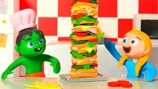 SUPERHERO BABIES SUPER SANDWICH ❤ Superhero Babies Play Doh Cartoons For Kids