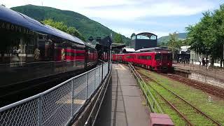 キハ185系特急ゆふ3号(5B)83D   由布院駅発車