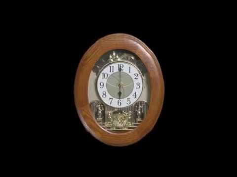 JOYFUL NOSTALGIA OAK 4MH852WD06 Rhythm Wall Clock