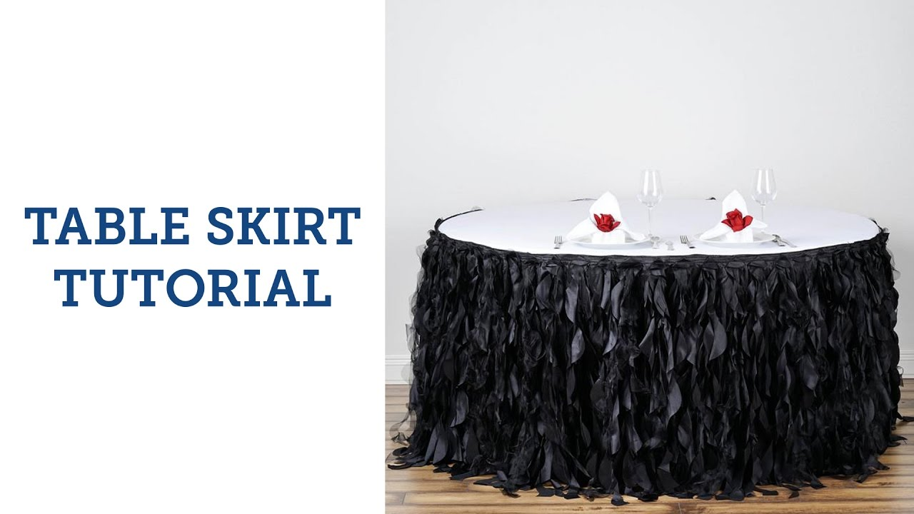 Table Skirt Tutorial | BalsaCircle.com   YouTube