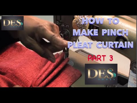 How to make Pinch Pleat Curtain part 3