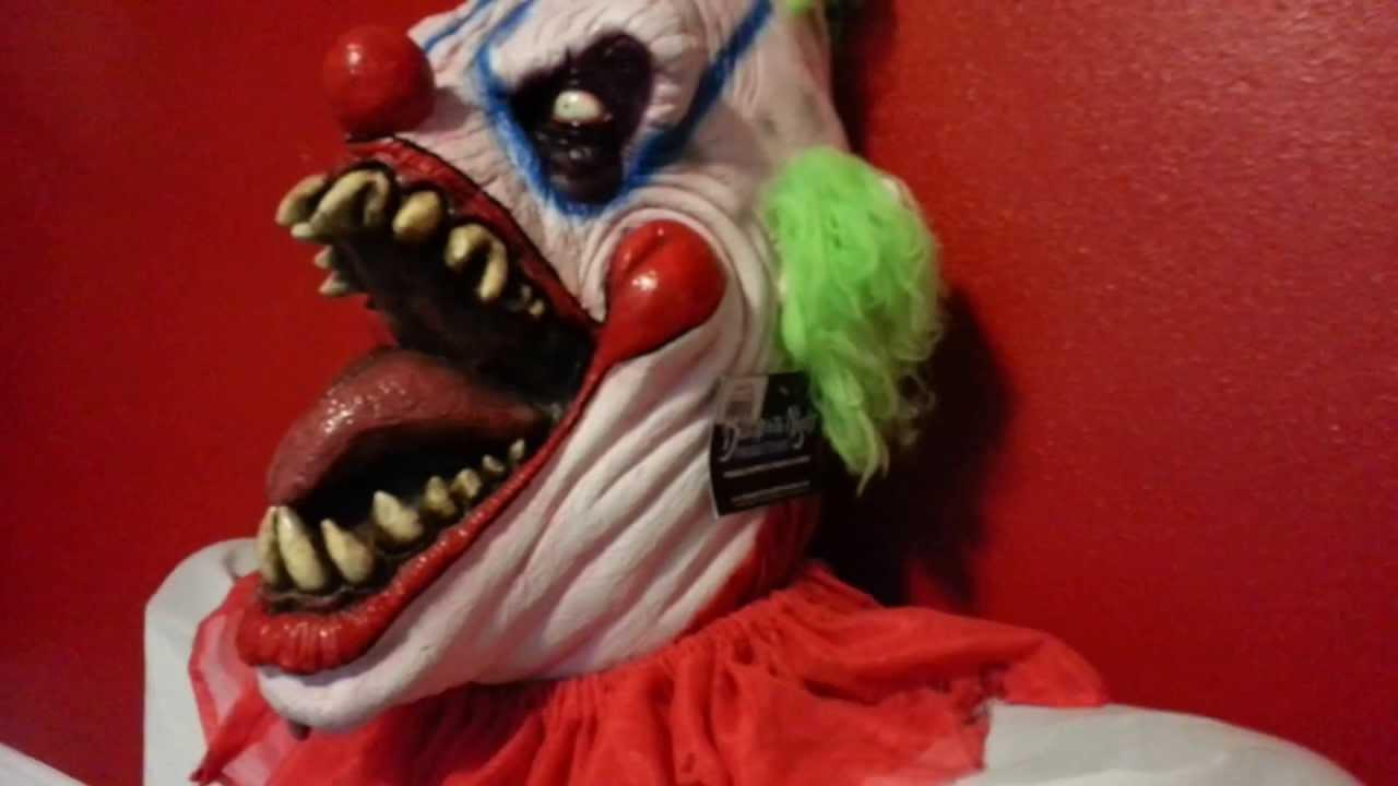 & Custom Zombie Clown Costume - Part 1 - Big Top Clown Mask - YouTube