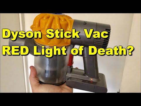 Dyson V6 Flashing red Light FIX dyson battery replacement - YouTube