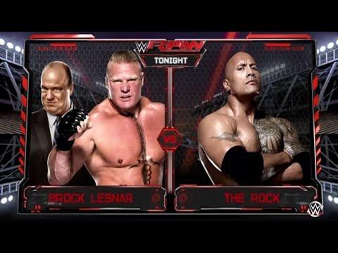 WWE Monday Night RAW 2018 Brock Lesnar vs. The Rock - WWE ...