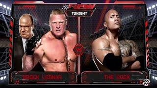 WWE Monday Night RAW 2017 Brock Lesnar vs. The Rock - WWE Raw 7/17/17