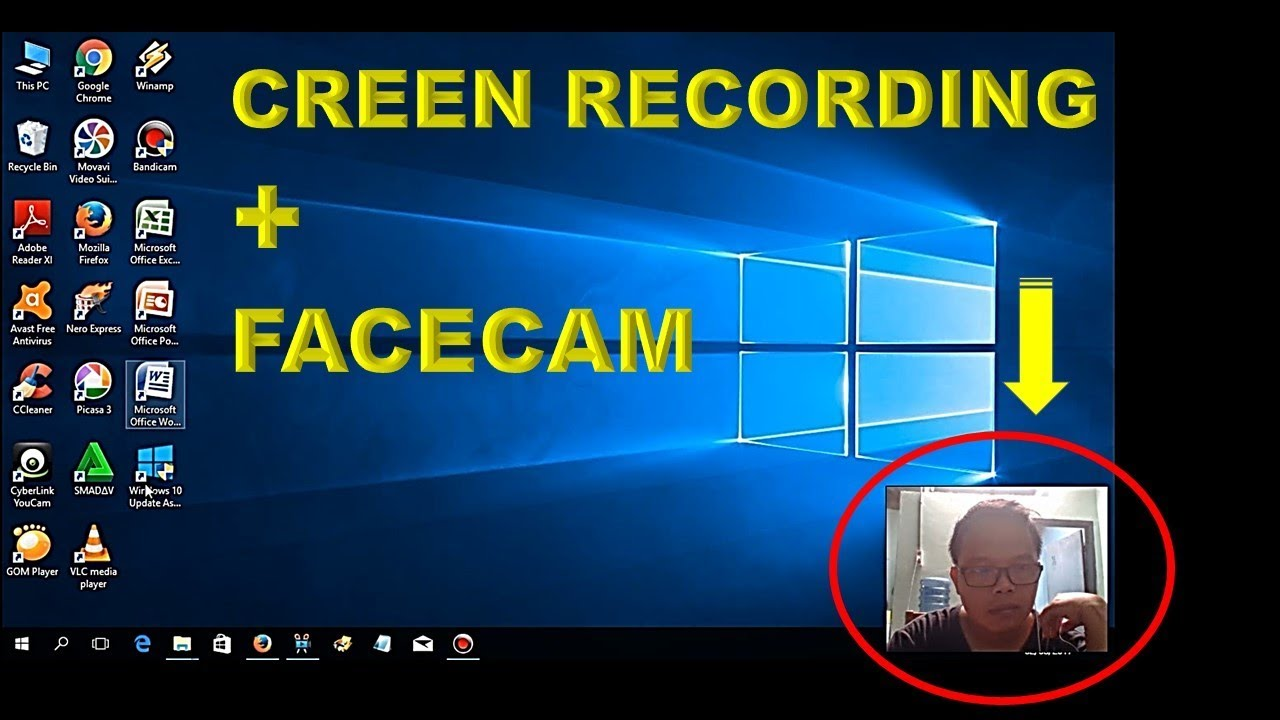 Cara Merekam Wajah Sendiri Saat Screen Recorder ǁ Screen Recording Facecam Youtube