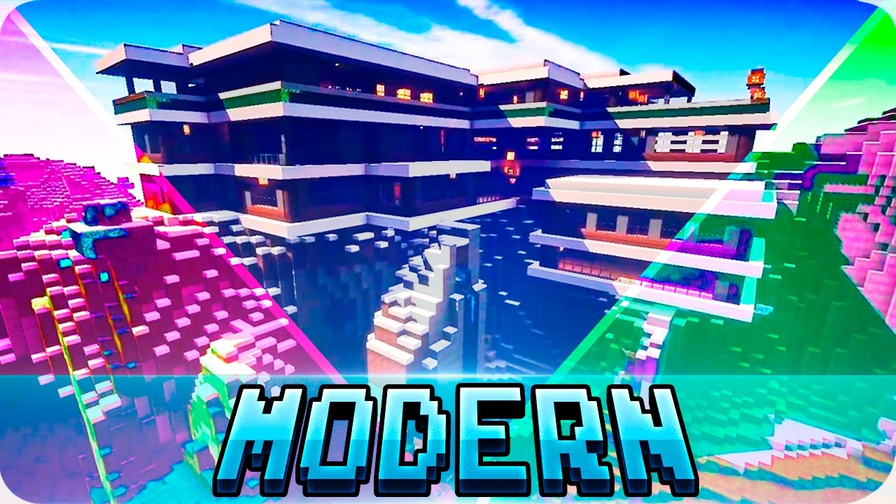 Minecraft - TOP 5 Best Modern Houses in Minecraft - Modern Houses ...