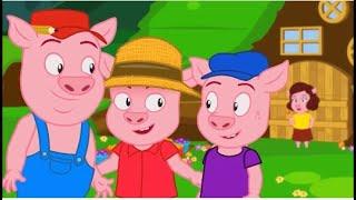 Tiga Babi Kecil Dongeng | Bagaimana Menggambar Tiga Babi Kecil | Dongeng Untuk Anak-Anak
