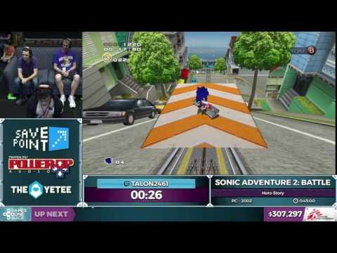Sonic Adventure 2: Battle by Talon2461 in 0:39:10 - SGDQ2016 - Part 86 [1080p]