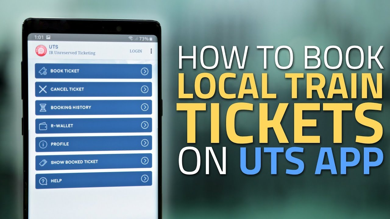 How to Book Local Train Tickets Via UTS App