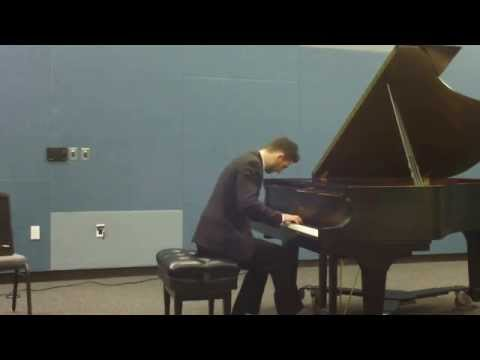Ashot's son and lifelong student Vahan Bznuni performs Toccata in E Flat Minor by A. Khachaturian at a recital.