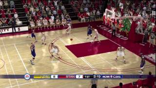 NCAA Basketball 10 (PS3) Cal vs. Stanford FIRST HALF