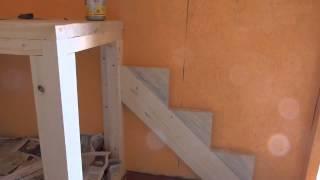 Впервые изготовление лестницы на 2 этаж садового домика.Часть 1(Лестница изготавливается впервые, с поворотом., 2015-09-28T17:23:37.000Z)