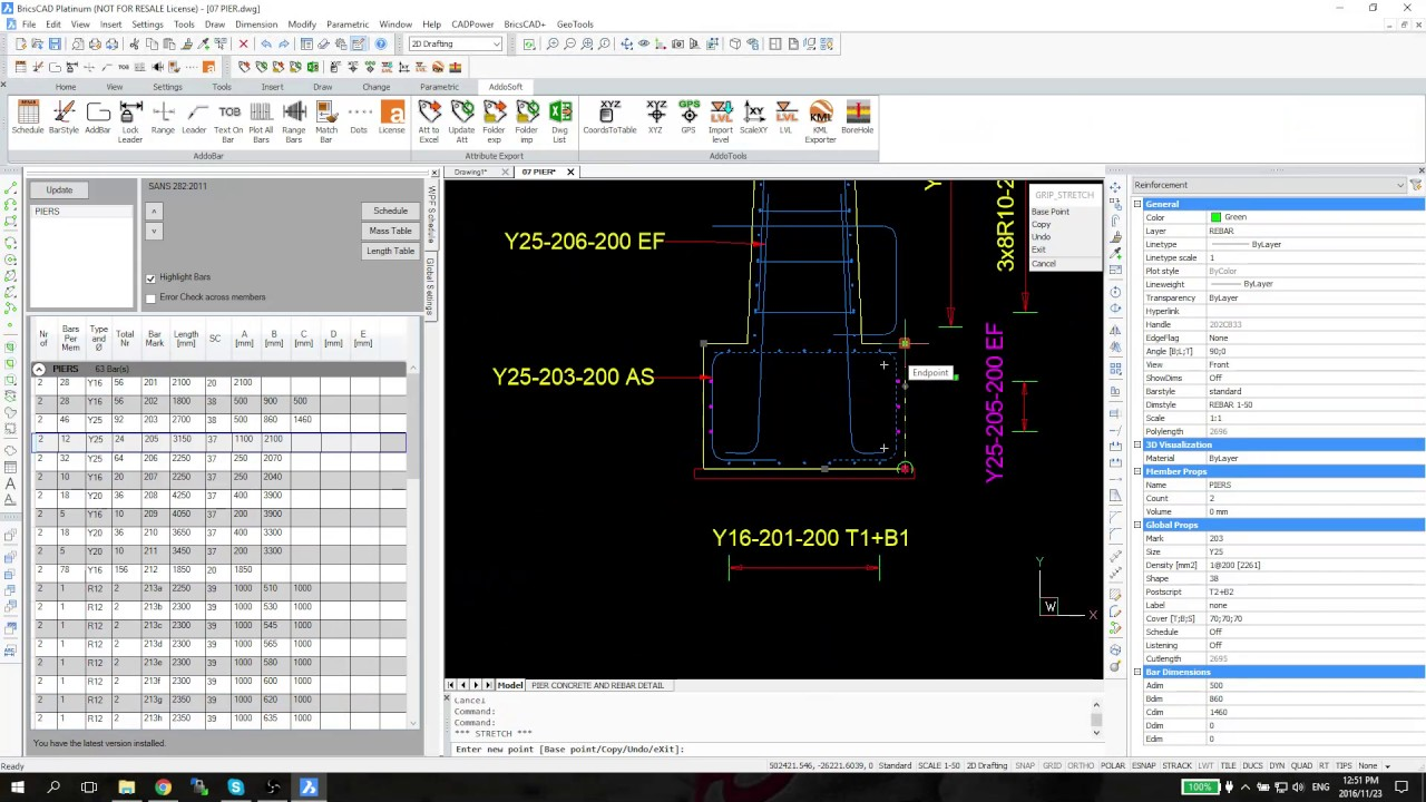 Addosoft :: Rebar Detailing Software for AutoCAD and BricsCAD