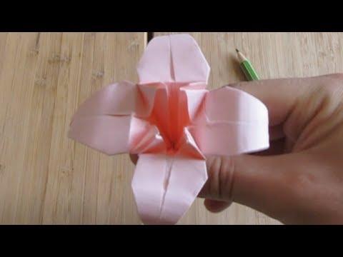 La fleur de lys origami youtube - Youtube origami fleur ...