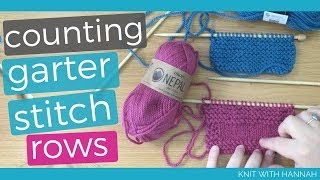 How To Count Garter Stitch Rows