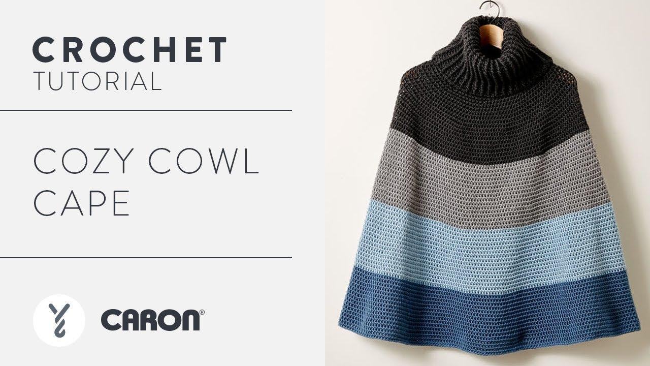 Crochet A Poncho Cozy Cowl Cape Youtube