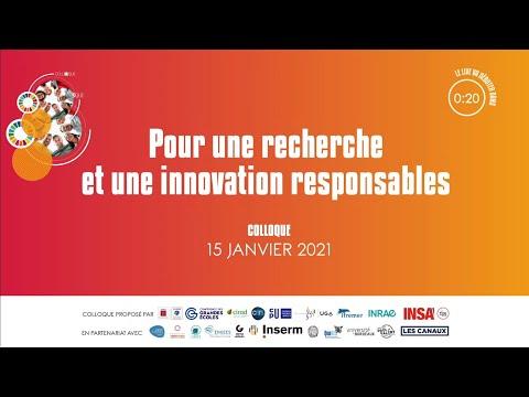 Intégrer le développement durable et la RSE dans la stratégie de recherche et d'innovation.