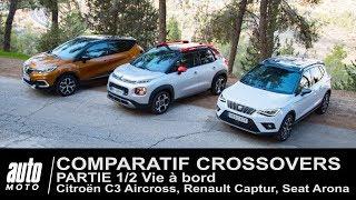Citroën C3 Aircross, Seat Arona, Renault Captur COMPARATIF (Partie 1/2) Vie à bord