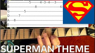 Superman Theme - Guitar Lesson WITH TABS