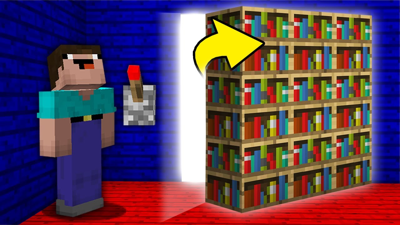 Minecraft, NOOB PRESSED THE LEVER AND FOUND SECRET ROOM THIS VILLAGER! Challenge 100% trolling