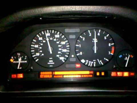 E34 Instrument Cluster Self Test Youtube