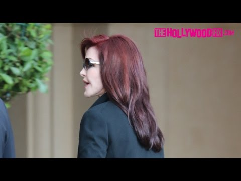 Priscilla Presley's Bodyguards Block Her While Entering The Montage Hotel In Beverly Hills 11.13.15