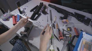 수정탄 저격총 m40a6 비비탄총으로 바꾸기